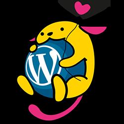 The WordPress default duotone applied to an image of wapuu.